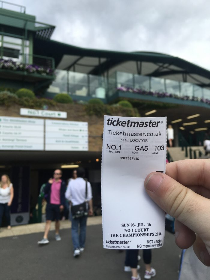 wimbledon tickets peoples sunday 700x933 - A visit to Wimbledon on People's Sunday 2016