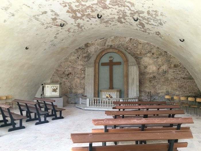 carlstens fastning church 700x525 - A day trip to Marstrand from Gothenburg including Match Cup Sweden & fortress
