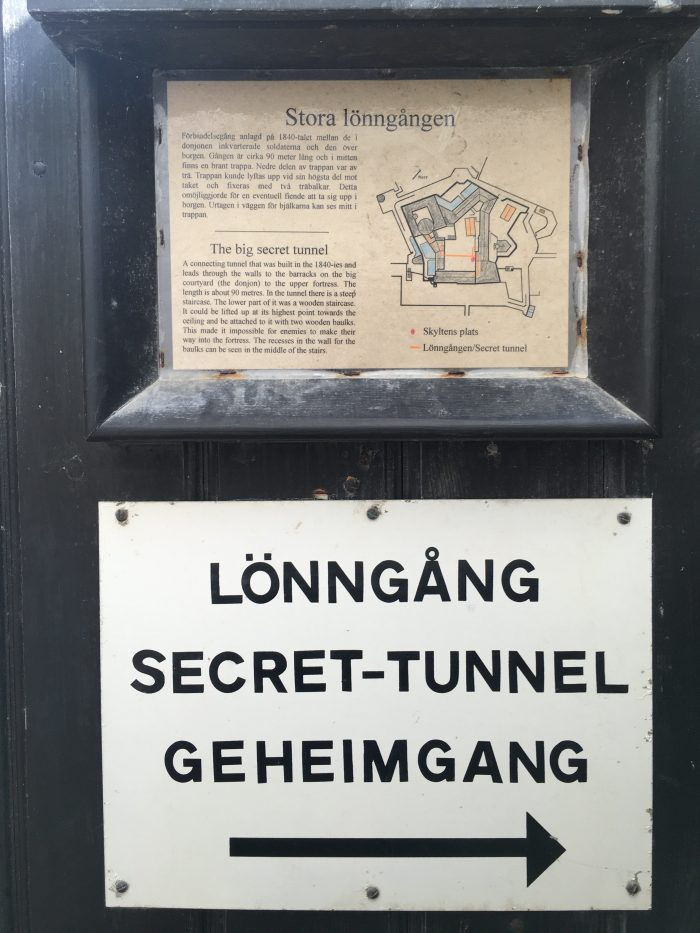 carlstens fastning secret tunnel 700x933 - A day trip to Marstrand from Gothenburg including Match Cup Sweden & fortress