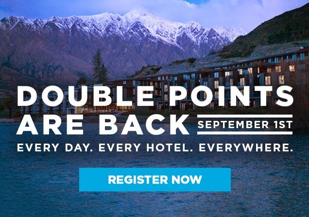 hilton fall 2016 promo double up - Hilton HHonors announces Fall 2016 Double Up promo