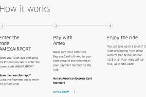 free uber airport rides amex 300x200 - Get 2 free airport Uber rides with Amex (up to $130 value)