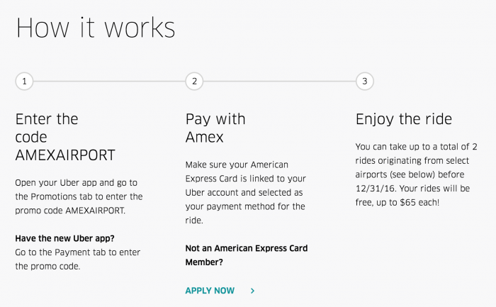 free uber airport rides amex 700x433 - Get 2 free airport Uber rides with Amex (up to $130 value)