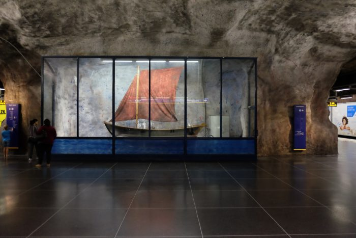 fridhemsplan ship 700x467 - Exploring the underground art of Stockholm's Metro system
