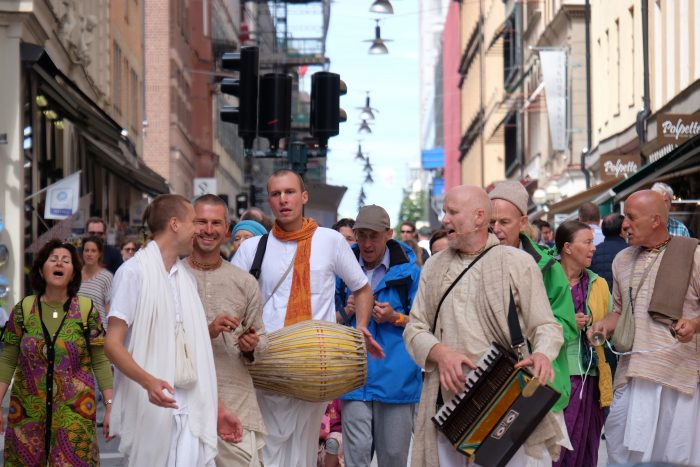 hare krishnas stockholm 700x467 - A photo walk through Gamla Stan, Stockholm's Old Town