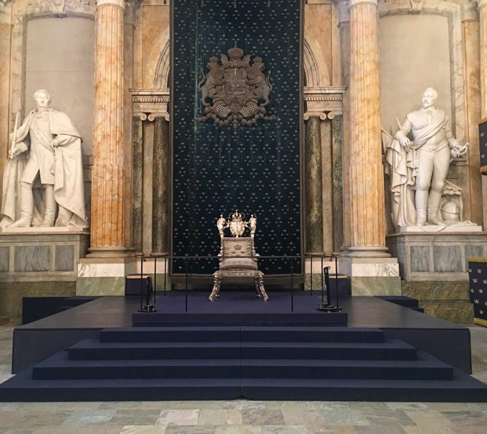 royal palace throne room stockholm sweden 700x624 - A visit to the Swedish Royal Palace in Stockholm