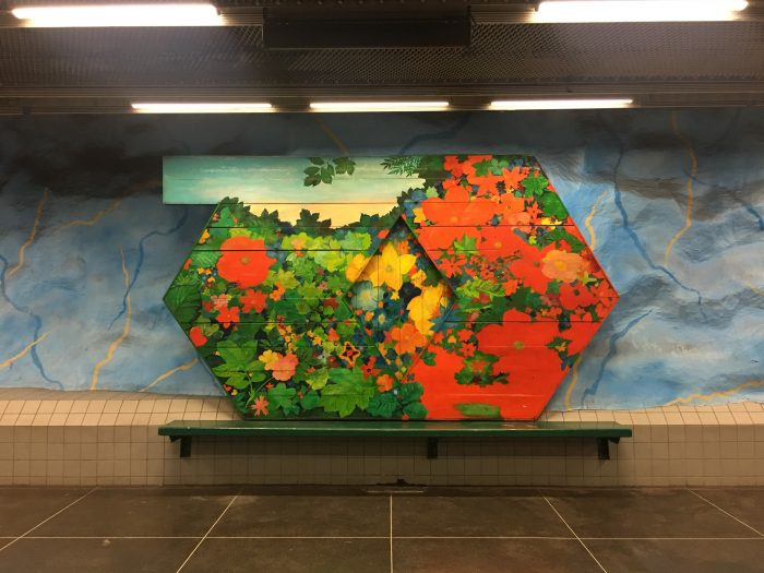stadion station art 700x525 - Exploring the underground art of Stockholm's Metro system