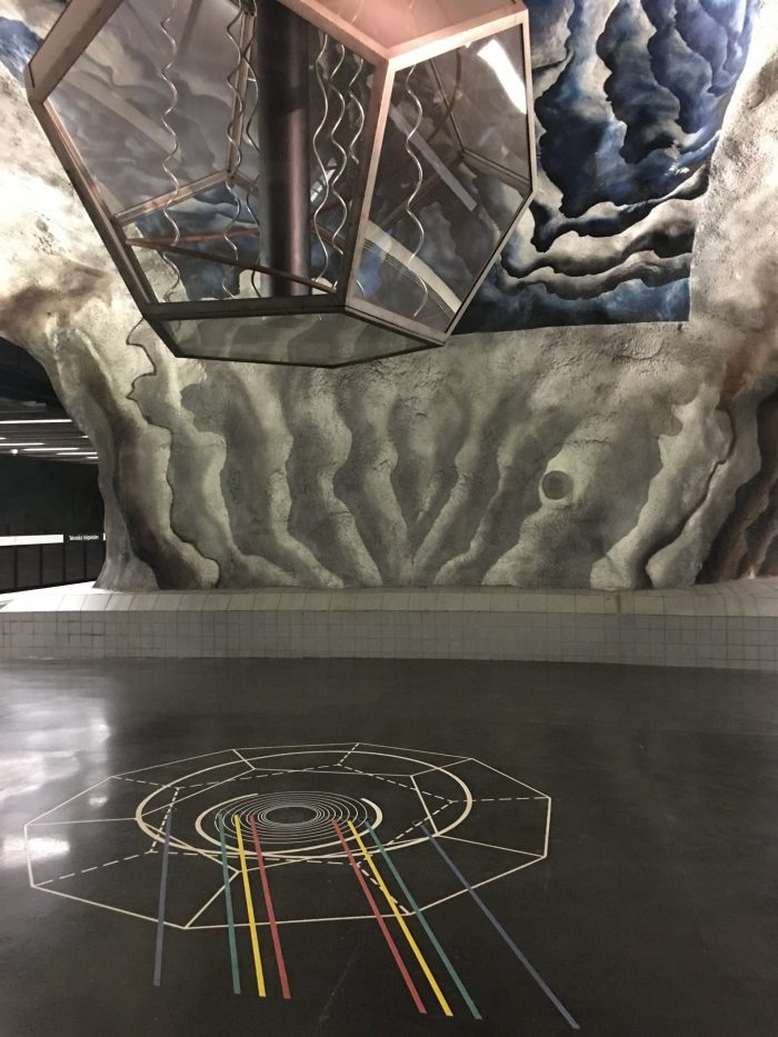 tekniska hogskolan station 700x933 - Exploring the underground art of Stockholm's Metro system