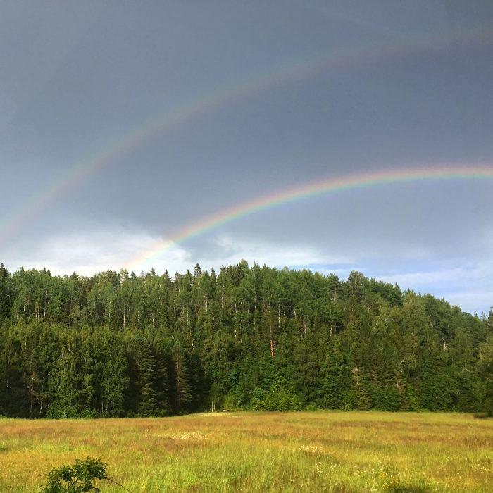 tjarn double rainbow 700x700 - A relaxing visit to Tjarn farmstead in Vasterbotten, Sweden