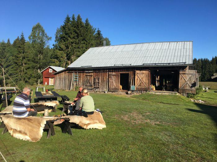 tjarn firepit 700x525 - A relaxing visit to Tjarn farmstead in Vasterbotten, Sweden