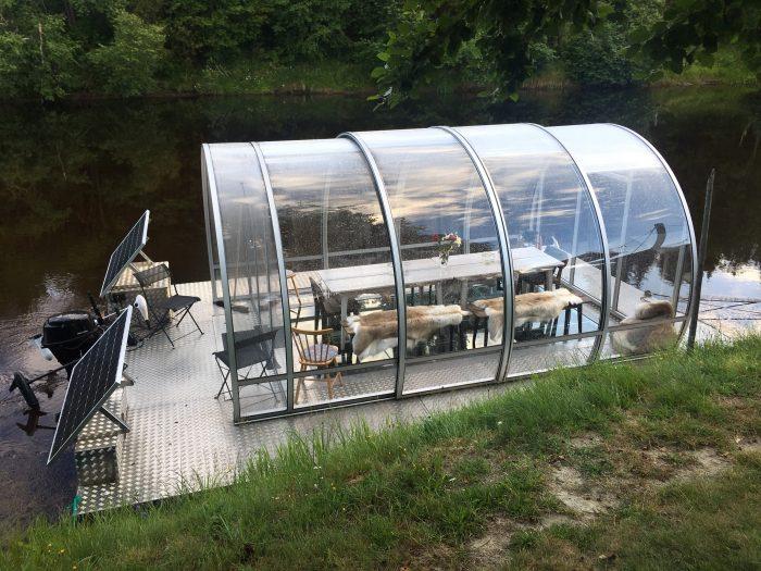 tjarn glass bottom boat 700x525 - A relaxing visit to Tjarn farmstead in Vasterbotten, Sweden