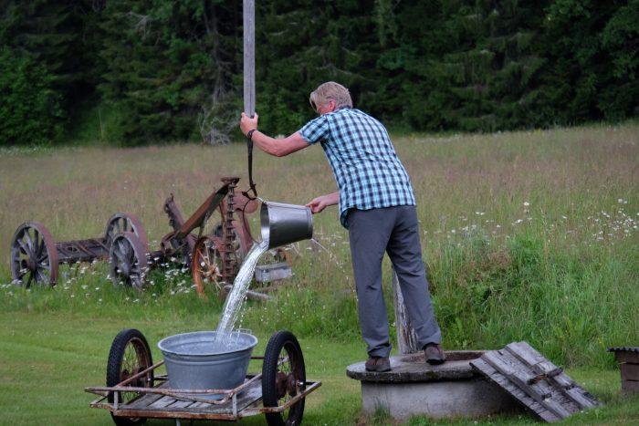 tjarn well 700x467 - A relaxing visit to Tjarn farmstead in Vasterbotten, Sweden