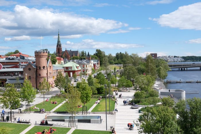 umea park river 700x467 - A photo walk & museum visits in Umeå, Sweden