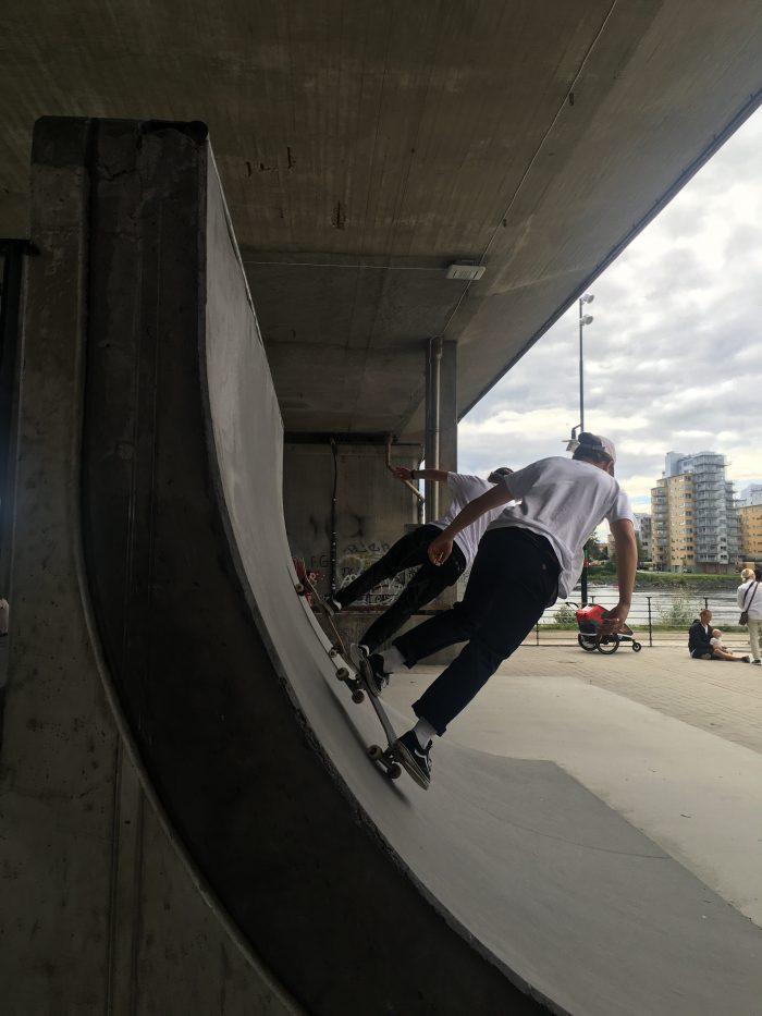 umea skateboarding 700x933 - A photo walk & museum visits in Umeå, Sweden