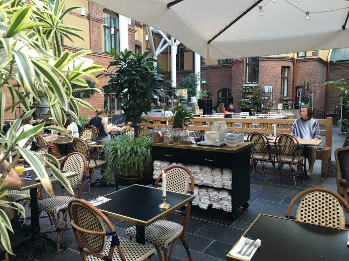 stora hotellet courtyard 700x525 - Stora Hotellet Umeå, Sweden review