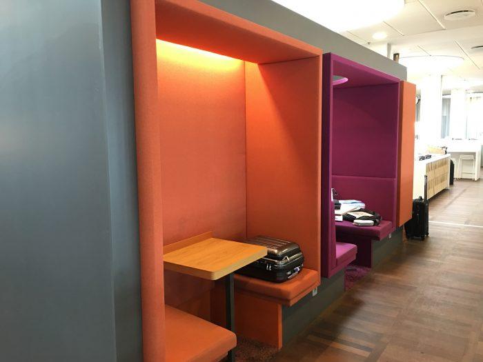 aspire lounge copenhagen cph pods 700x525 - Aspire Lounge Copenhagen CPH Airport review