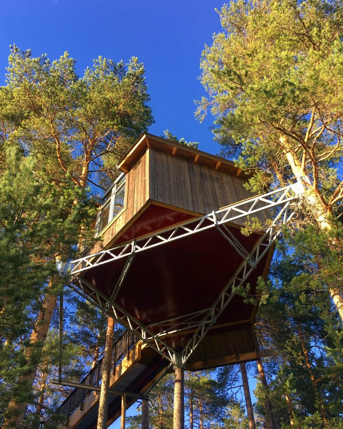 grano beckasin birds nest 700x875 - Sleeping in a treehouse at Granö Beckasin in Granö, Sweden