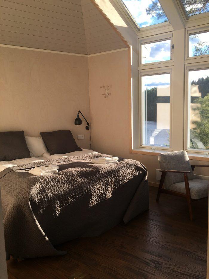 grano beckasin hotel room 700x933 - Sleeping in a treehouse at Granö Beckasin in Granö, Sweden