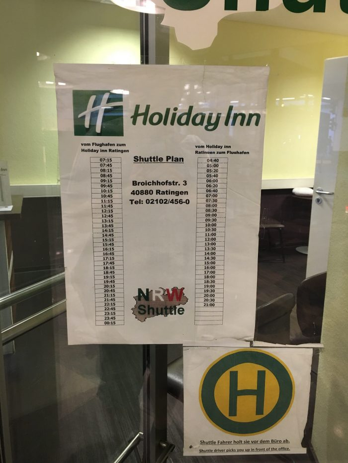 holiday inn dusseldorf airport shuttle schedule 700x933 - How to take the shuttle to the Holiday Inn Dusseldorf Airport - Ratingen