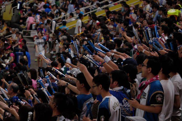 hokkaido nippon ham fighters fans 700x467 - Attending a Fukuoka SoftBank Hawks Japanese baseball game