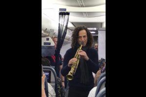 kenny g plays charity concert aboard delta flight 300x200 - Kenny G plays charity concert aboard Delta Airlines flight: Video