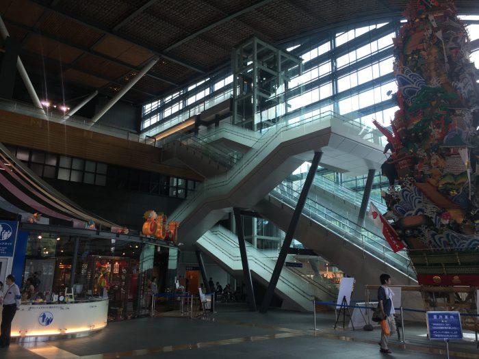 kyushu national museum atrium 700x525 - A day trip from Fukuoka to Dazaifu, Japan