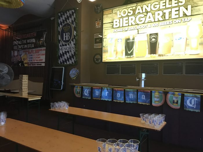 los angeles biergarten beer pong 700x525 - The best craft beer in Downtown Los Angeles