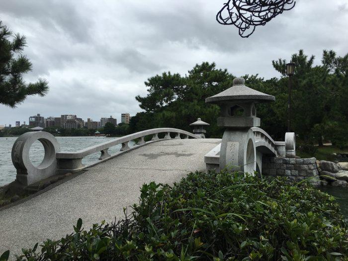 ohori park bridge 700x525 - A walking tour of the parks, shrines, & temples of Fukuoka, Japan