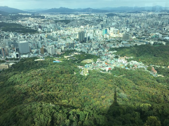 central seoul from seoul tower 700x525 - Walking the Seoul City Wall - Namsan (Mongmyeok) Mountain Trail section