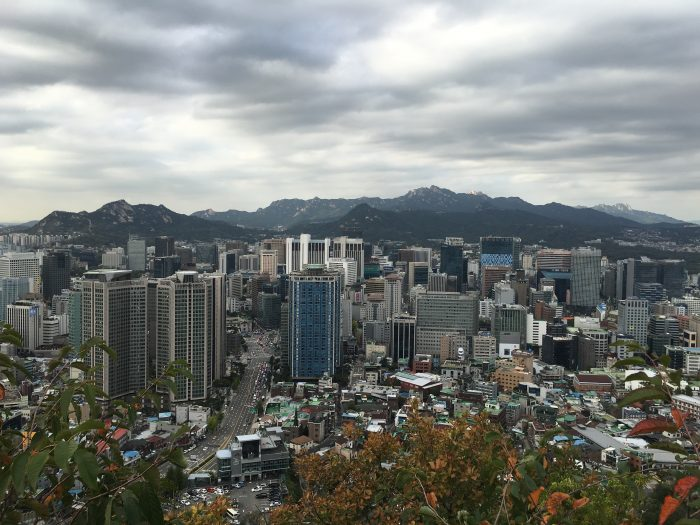 central seoul viewpoint 700x525 - Walking the Seoul City Wall - Namsan (Mongmyeok) Mountain Trail section