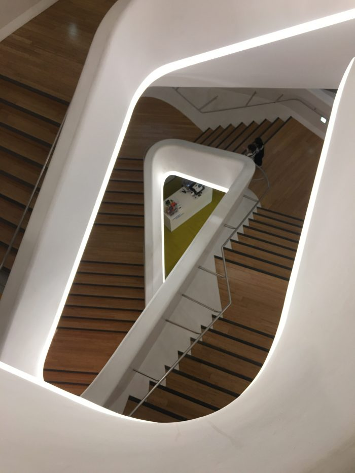 dongdaemun design plaza stairs 700x933 - Walking the Seoul City Wall - Heunginjimun Gate Trail section