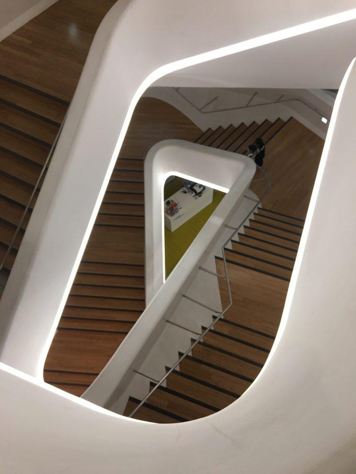 dongdaemun design plaza stairs 700x933 - Walking the Seoul City Wall - Heunginjimun Gate Trail section