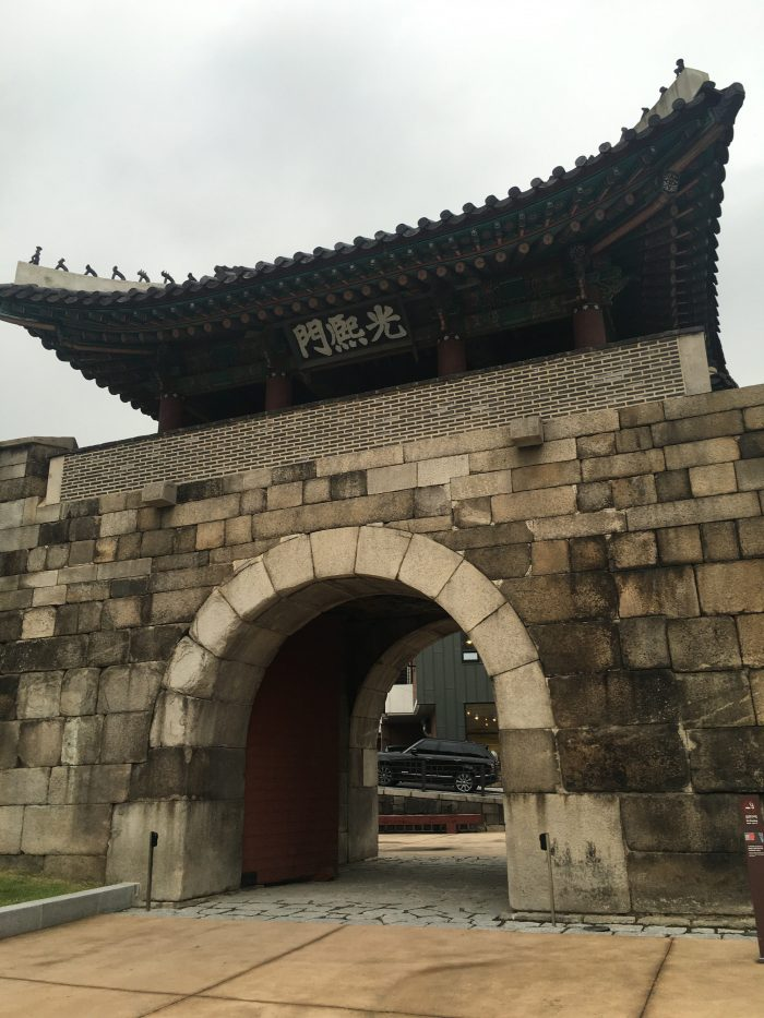 gwanghuimun gate 700x933 - Walking the Seoul City Wall - Heunginjimun Gate Trail section