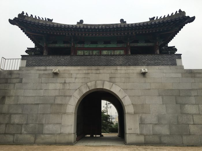 honghwamun gate 700x525 - Walking the Seoul City Wall - Naksan Mountain Trail section