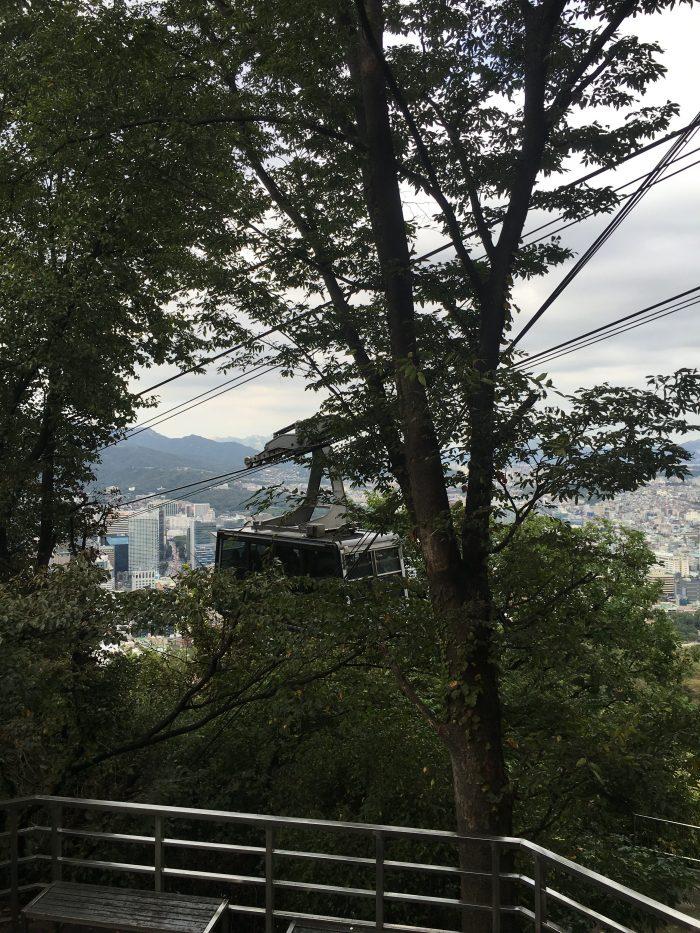 mt namsan cable car 700x933 - Walking the Seoul City Wall - Namsan (Mongmyeok) Mountain Trail section