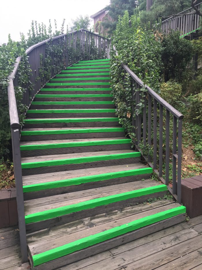 naksan mountain trail stairs 700x933 - Walking the Seoul City Wall - Naksan Mountain Trail section
