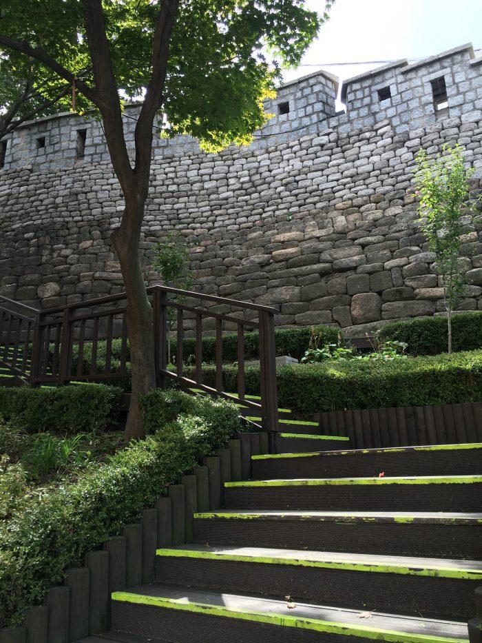 namsan mountain trail entrance 700x933 - Walking the Seoul City Wall - Namsan (Mongmyeok) Mountain Trail section
