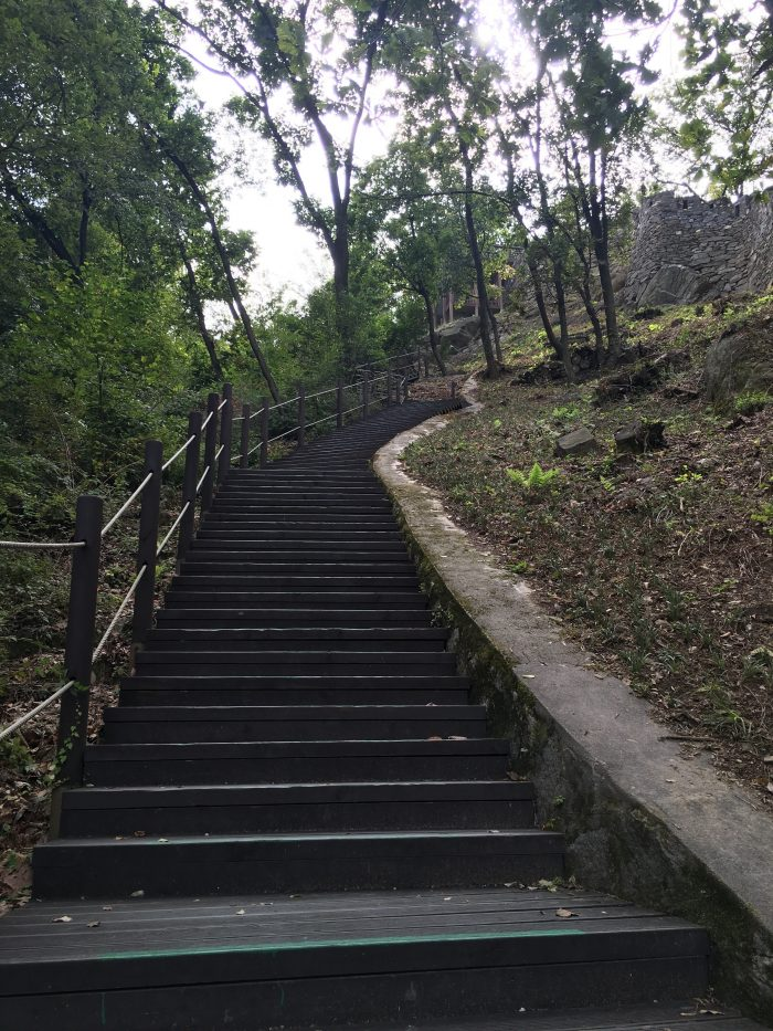 namsan mountain trail staircase 700x933 - Walking the Seoul City Wall - Namsan (Mongmyeok) Mountain Trail section