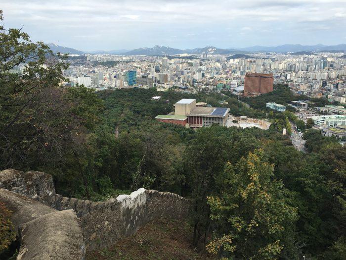 namsan mountain trail view 700x525 - Walking the Seoul City Wall - Namsan (Mongmyeok) Mountain Trail section