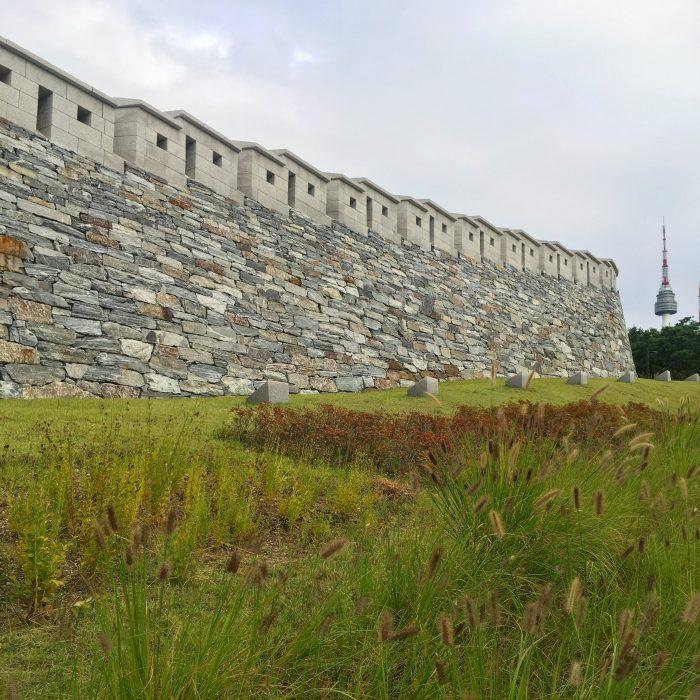 seoul city wall seoul tower 700x700 - Walking the Seoul City Wall - Namsan (Mongmyeok) Mountain Trail section