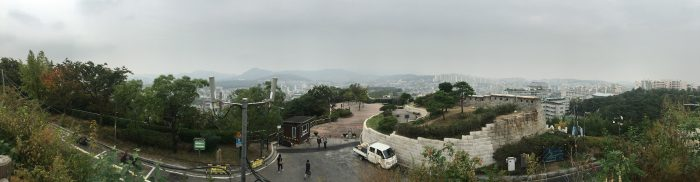 view from mt naksan 700x182 - Walking the Seoul City Wall - Naksan Mountain Trail section