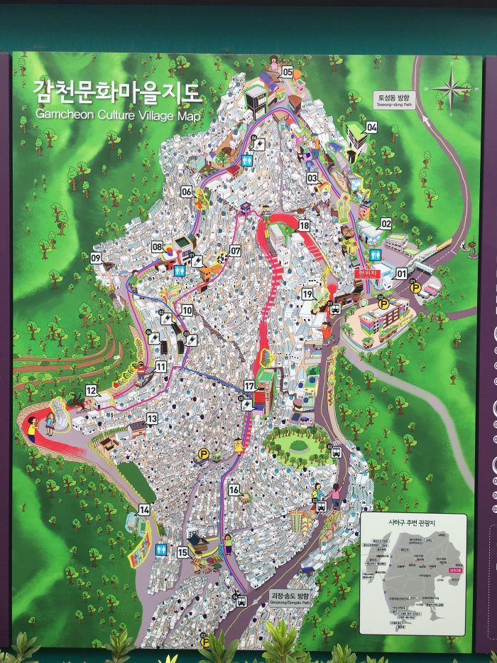 gamcheon culture village map 700x933 - A visit to Gamcheon Culture Village in Busan, South Korea