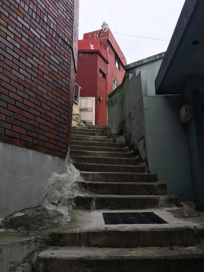 gamcheon stairway 700x933 - A visit to Gamcheon Culture Village in Busan, South Korea