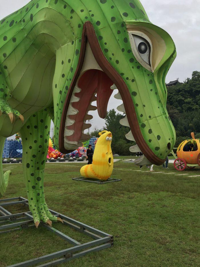 jinju lantern festival dinosaur 700x933 - Attending the Jinju Lantern Festival in Jinju, South Korea
