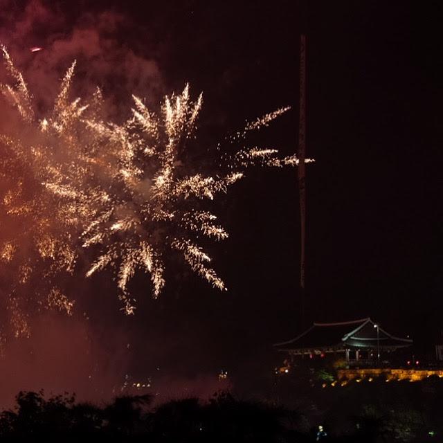 jinju lantern festival fireworks - Attending the Jinju Lantern Festival in Jinju, South Korea