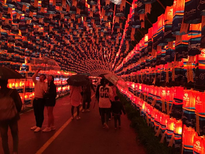 lantern tunnel jinju lantern festival 700x525 - Attending the Jinju Lantern Festival in Jinju, South Korea