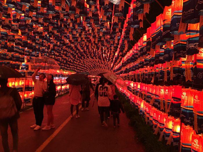 lantern tunnel jinju lantern festival 700x525 - Attending the Jinju Lantern Festival in Jinju, South Korea