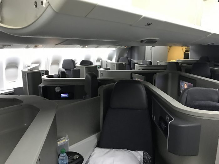 american airlines business class boeing 777 200 los angeles to london heathrow cabin 700x525 - American Airlines Business Class Boeing 777-200 Los Angeles LAX to London Heathrow LHR review