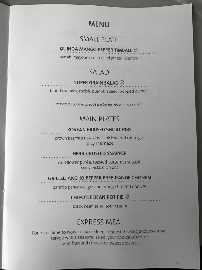 american airlines business class boeing 777 200 los angeles to london heathrow dinner menu 700x933 - American Airlines Business Class Boeing 777-200 Los Angeles LAX to London Heathrow LHR review