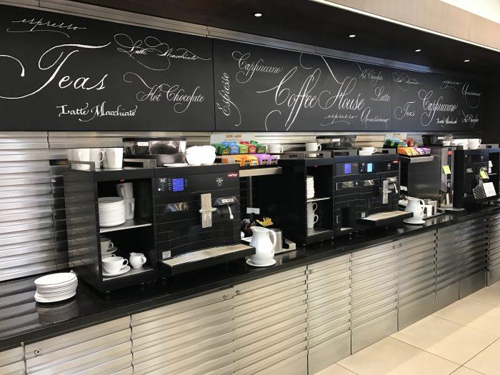british airways north galleries club lounge london heathrow coffee machines 700x525 - British Airways North Galleries Club Lounge London Heathrow LHR review