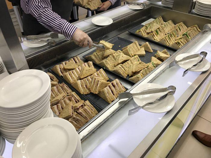 british airways north galleries club lounge london heathrow sandwiches 700x525 - British Airways North Galleries Club Lounge London Heathrow LHR review